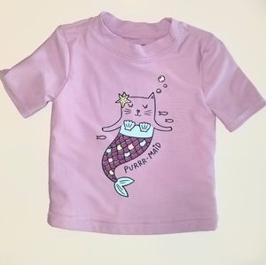 "Girls ""Purr Maid"" rashguard top"